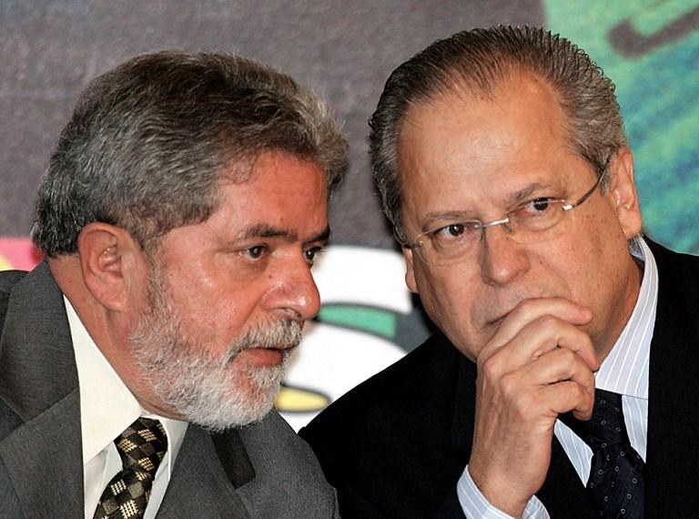 Lula y José Dirceu. Foto: AFP