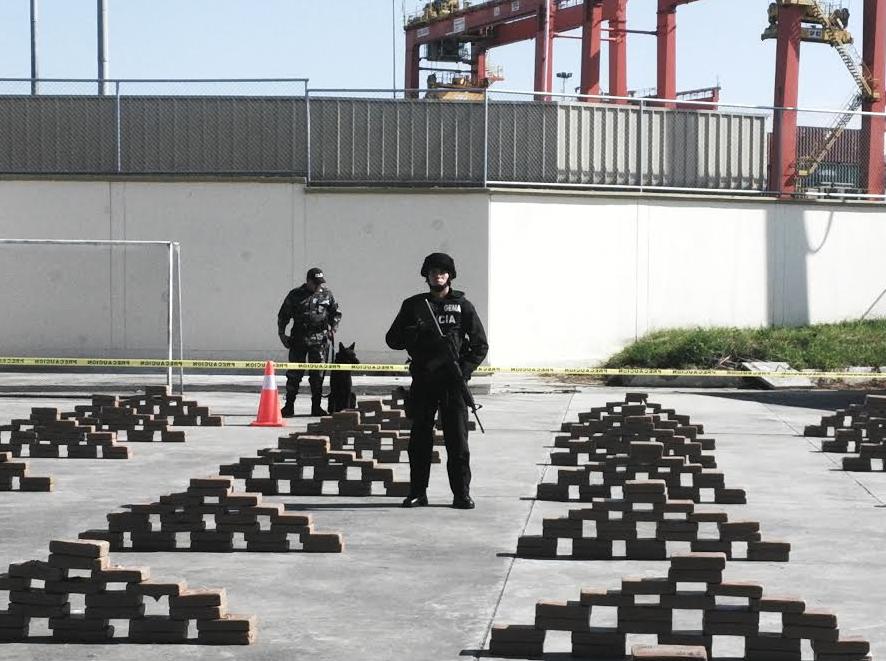 Incautan 55 52 toneladas de droga en lo que va de 2015 for Ministerio del interior ecuador