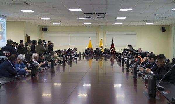 Autoridades desactivan coe nacional tras sismo de 6 8 for Ministerio del interior ecuador