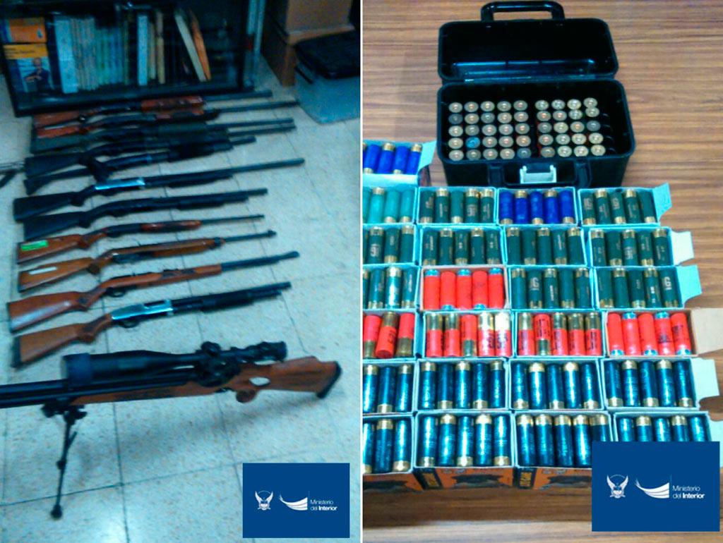 Descubren armas y municiones en una vivienda en guayaquil for Ministerio del interior en guayaquil