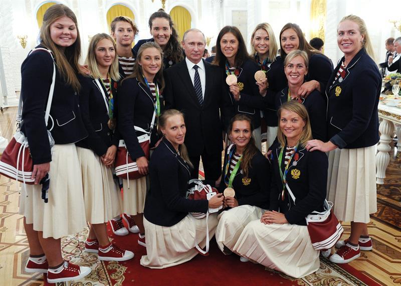 RUSIA.- Rusia quedó en cuarto lugar en el medallero olímpico de Río de Janeiro, con 56 preseas. Foto: EFE