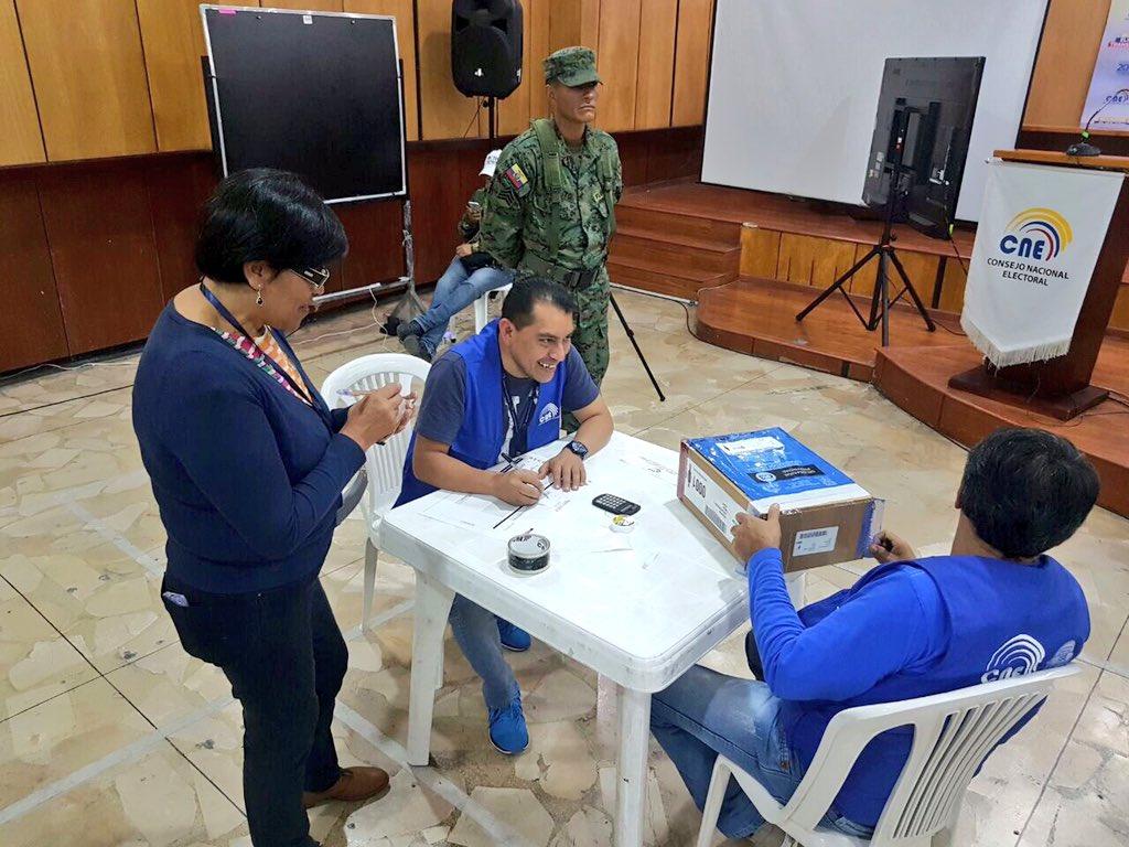 Audiencia pública de escrutinio realizada en la provincia de Pichincha. Foto: Twitter   Juan Pablo Pozo.
