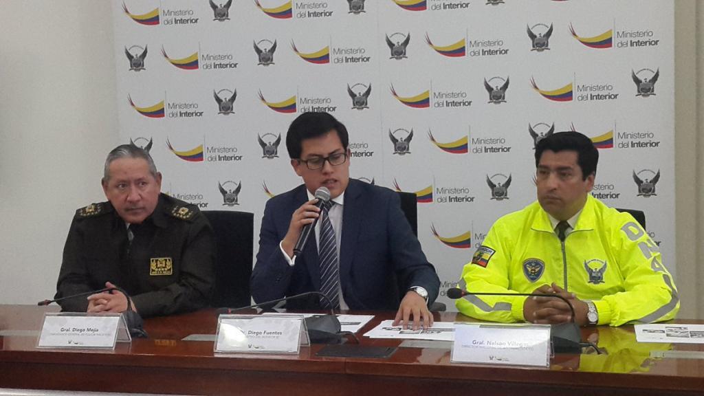 QUITO, Ecuador.- La droga provenía desde Colombia y se transportaba a EE.UU. a través de lanchas rápidas, dijo el ministro encargado Diego Fuentes. Foto: Twitter Policía Nacional.