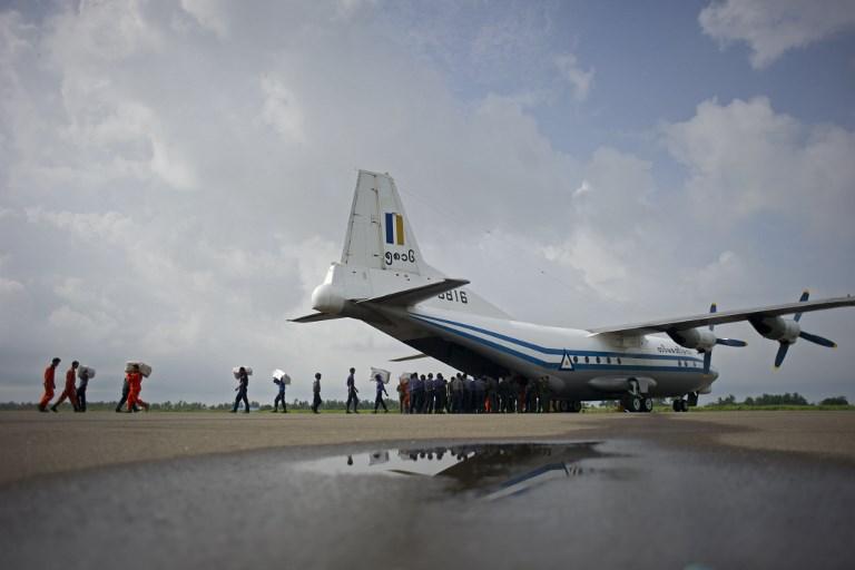 Desaparece un avión militar con 114 personas en el sureste de Birmania