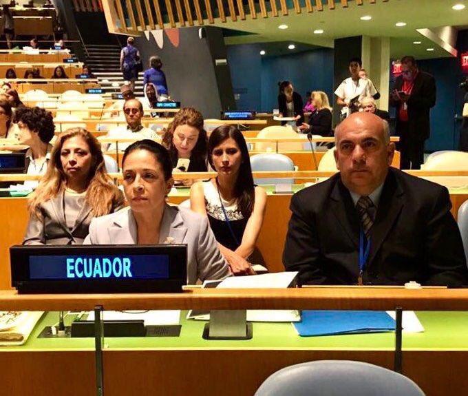 Rocío de Moreno representa a Ecuador en cita de la ONU