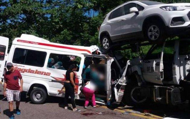 Diez personas muertas deja accidente en el Magdalena Medio