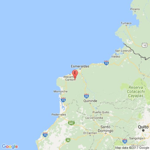 Sismo de 5,7 grados se registró en Esmeraldas