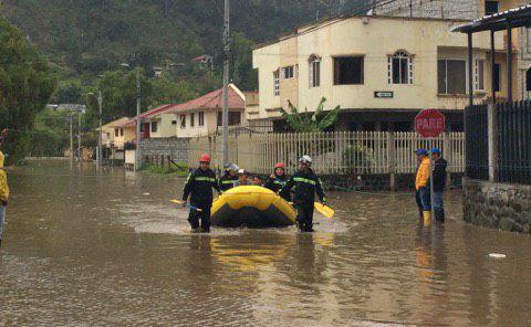 Gualaceo afectado por las lluvias en Azuay