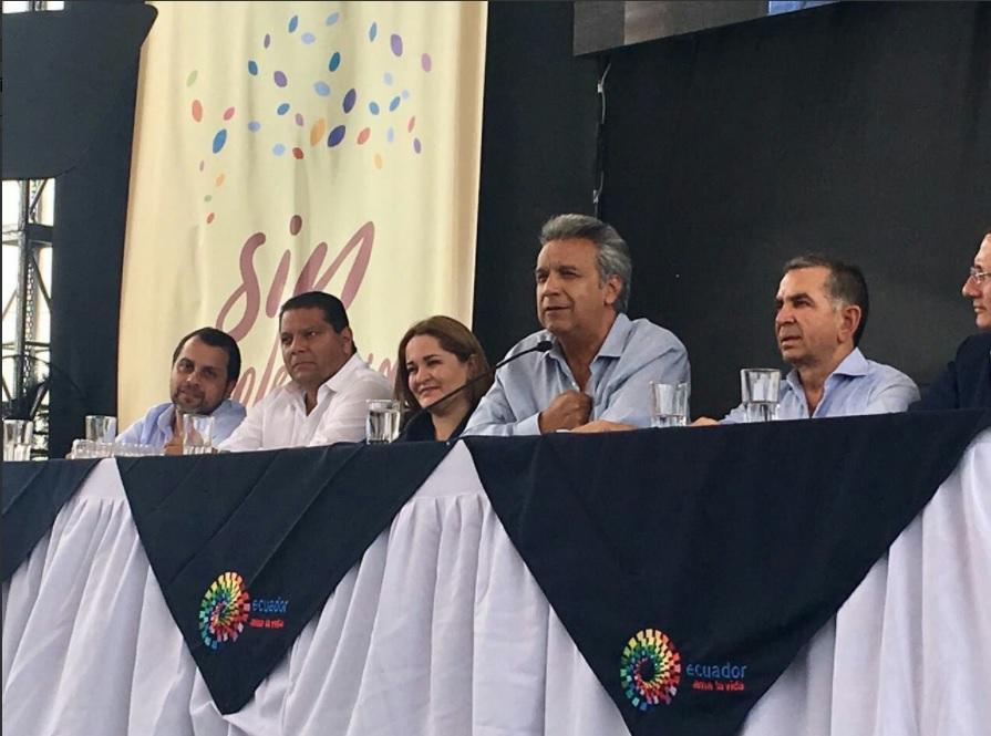 Presidente Moreno participó en inicio del plan 'Casa para Todos' en Manabí