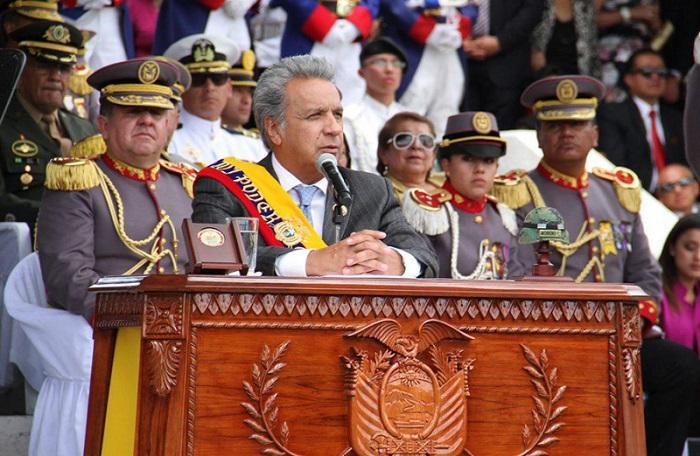 Lenín Moreno y alto mando emiten discursos contra la corrupción