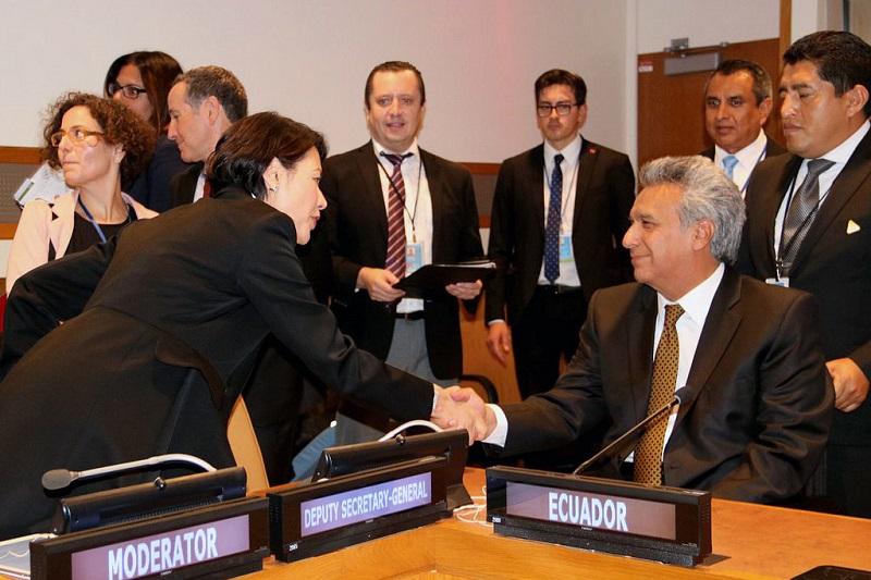 Moreno promovió el diálogo, la paz y la transparencia ante la ONU