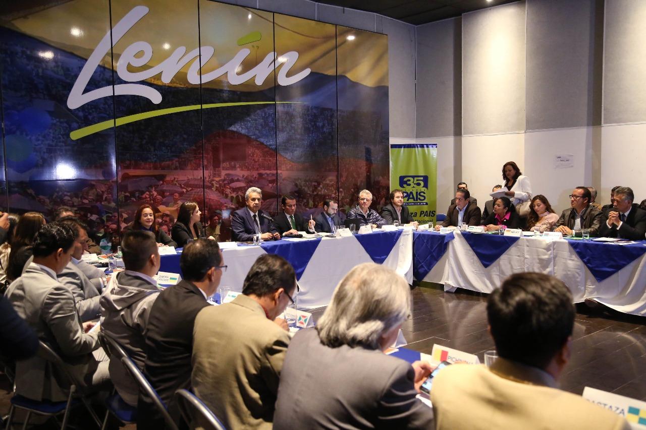 Moreno reúne a líderes de Alianza PAIS tras dimisión de altos funcionarios