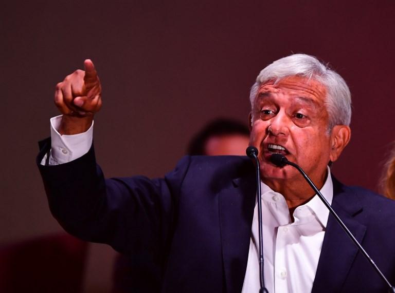 López Obrador prometió cambiar la actual estrategia militar para combatir a los cárteles de las drogas y la violencia. Foto: AFP