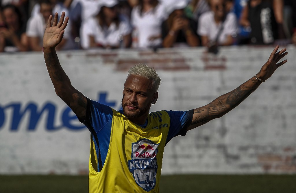 """Ninguna arma forjada contra mí prosperará"""", dijo Neymar en el video. Foto: AFP"""