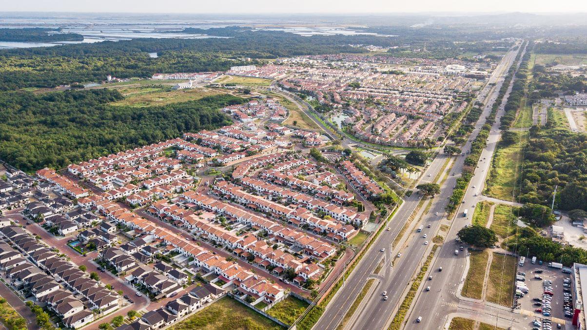 Vista panorámica de la urbanización Terra Nostra en Vía a la Costa, Guayaquil.