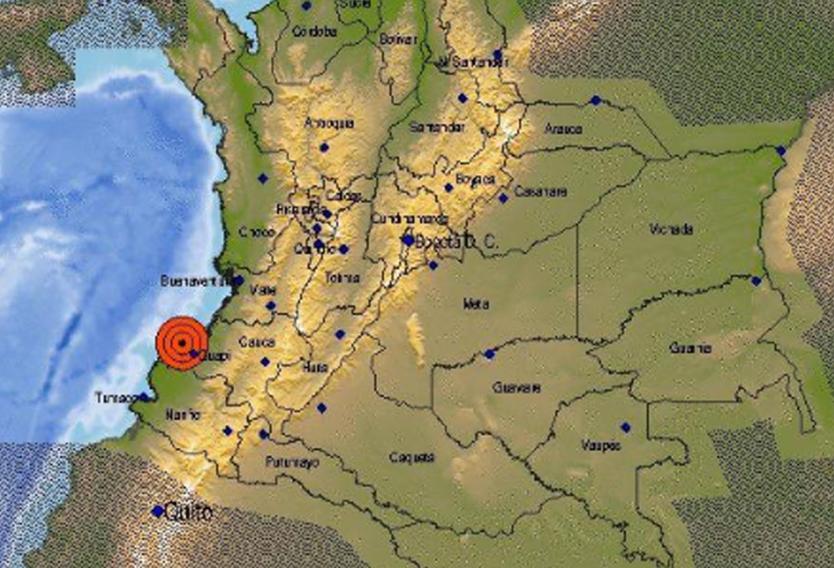 Temblor de 5,3 grados se sintió en varios puntos del suroccidente colombiano