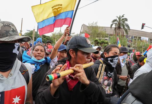 """Desde el Vaticano el representante de la organización indígena del Amazonas COICA pidió que """"pare la violencia y se abra el diálogo"""". Foto: Reuters."""