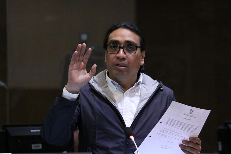 Virgilio Hernández acudió a la Corte para la audiencia de vinculación