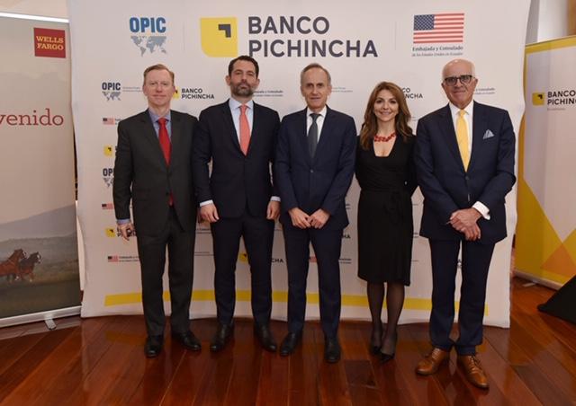 El Banco del Pichincha informo este miércoles en un comunicado de que firmó un acuerdo con la OPIC, para un préstamo de 100 millones de dólares.