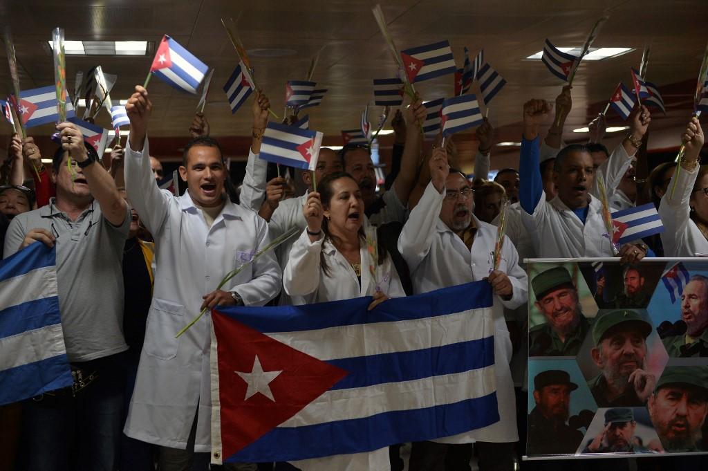 Imagen referencial a las protestas de los médicos cubanos en Bolivia.
