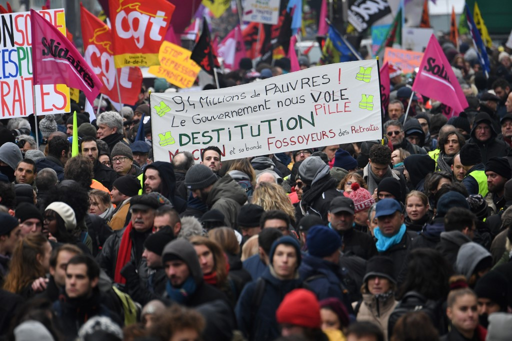Los sindicatos amenazan con prolongar la huelga de forma indefinida. Foto: AFP