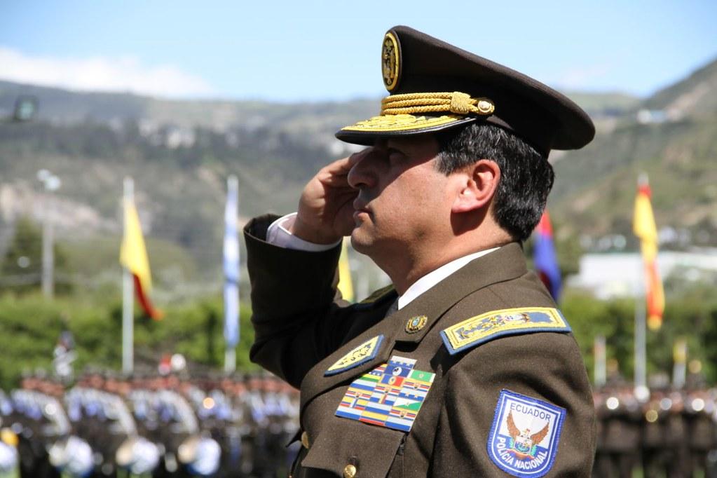 Nelson Villegas fue embestido como Comandante General de Policía el 24 de mayo de 2018. Foto: Ministerio de Gobierno.