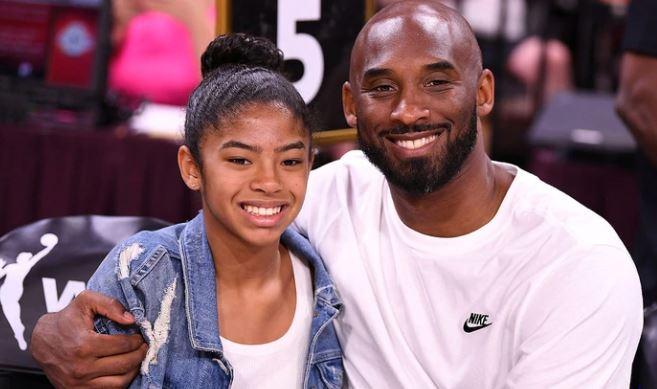 Kobe Bryant y su hija Gianna Maria-Onore en el All-Star Game de la WNBA en Las vegas, EE.UU., 27 de julio de 2019.