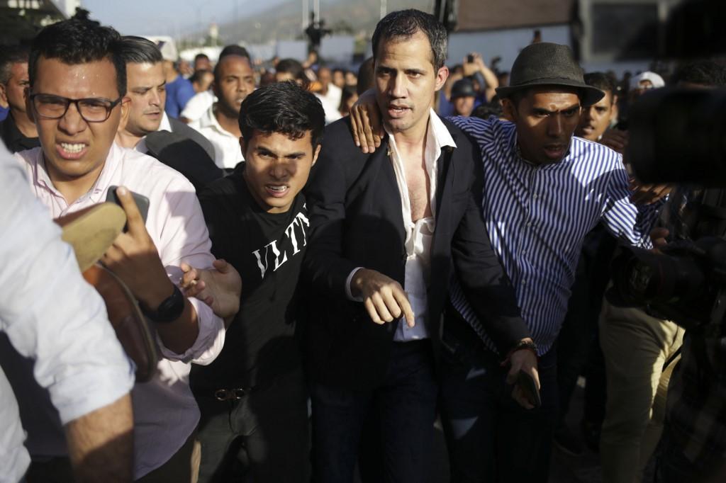 Washington ha advertido al gobierno de Maduro que cualquier acción contra Guaidó tendrá consecuencias. Foto: AFP