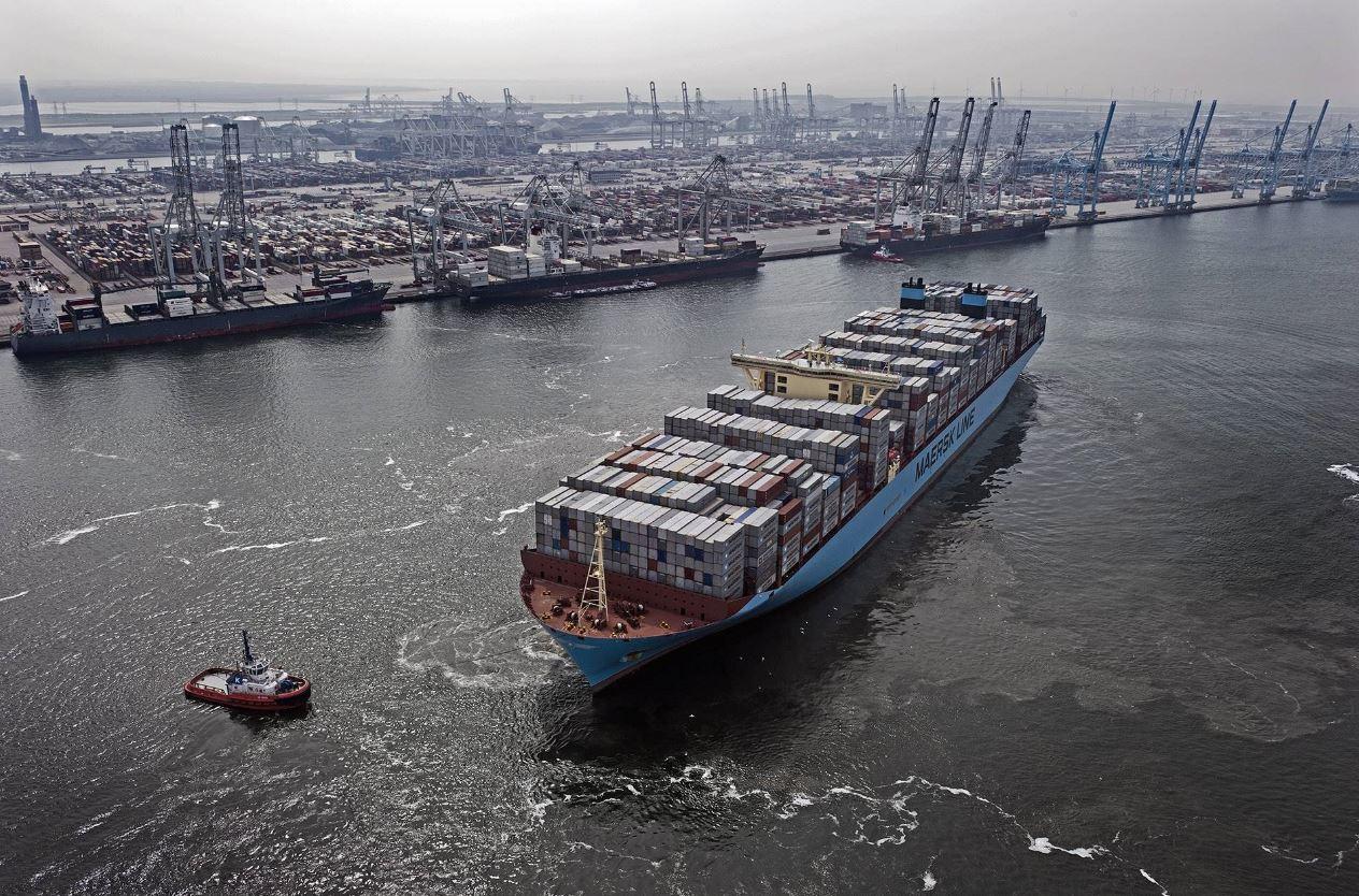 Todas las embarcaciones usan combustible con niveles de azufre de 0,5 por ciento o difusores para reducir las emisiones. Foto cortesía Maersk.
