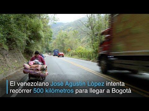El sacrificado viaje por Colombia de un venezolano parapléjico