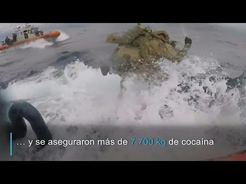 Dramática detención de submarino que transportaba droga | AFP