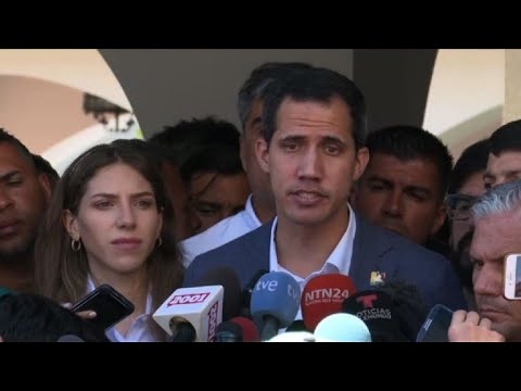 """Guaidó: bloqueo de ayuda es crimen de """"lesa humanidad"""""""