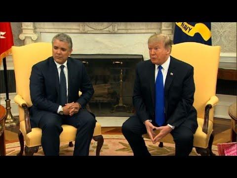 Trump, frente a Duque, reitera sus advertencias a Maduro