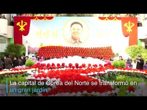 Un festival de flores en Corea del Norte