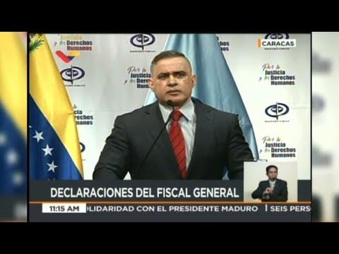 """Fiscal venezolano perseguirá a quienes """"conspiren"""""""