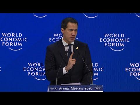 """""""Solos no podemos"""", dice líder opositor venezolano Guaidó en Davos   AFP"""
