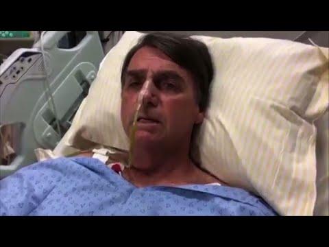 Candidato brasileño Bolsonaro discursa desde su cama de hospital