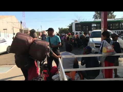 Más de 1.500 migrantes de caravana en frontera México-EEUU