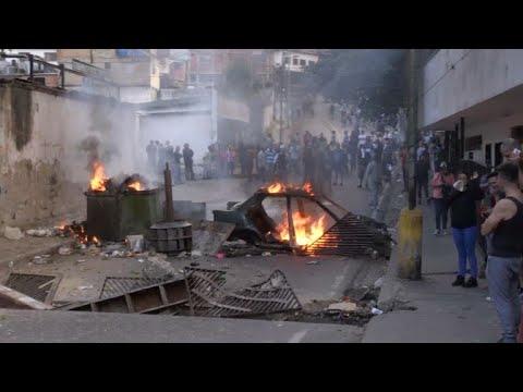 Protesta tras detención de militares sublevados contra Maduro