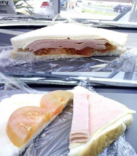 Cliente indignado por sandwich engañoso — Facebook