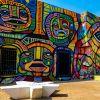 El Barrio Abajo, un tradicional y pintoresco sector de la ciudad colombiana de Barranquilla, vive una transformación que lo convertirá en el museo a cielo abierto más grande del mundo. Foto: EFE