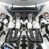 Tripulación de la misión Crew-1. Foto: NASA