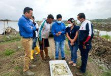 Sobre una bandeja especial, la aplicación escanea el peso, talla y estado de salud de los camarones. Foto: Cortesía.