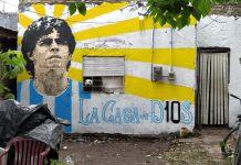 La casa donde creció Maradona, en Villa Fiorito, un barrio pobre al sur de Buenos Aires. Foto: Roxana Toral.
