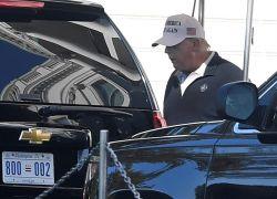 Trump regresó a su club de golf privado de Sterling (Virginia) y siguió sin reconocer la derrota en las elecciones del 3 noviembre. Foto: EFE