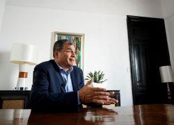 """Sobre Correa pesa una condena a ocho años de cárcel e inhabilitación política por el caso """"Sobornos 2012-2016"""". Foto: EFE"""