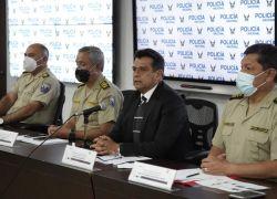 Rueda de prensa por parte del ministro del Interior, Patricio Pazmiño para hablar sobre el asesinato del presentador, Efraín Ruales. Foto: API