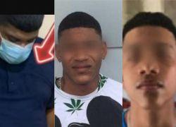 Detrás del ataque violento contra Ruales está una organización criminal de sicarios. En la foto: alias 'Casquete', 'Alvarito' y 'Ñorqui'