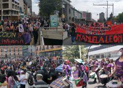 En la marcha se apreció a la mayoría de participantes portando mascarillas. Fotos: Cortesía