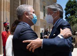 """Lasso pidió el apoyo de Colombia """"para un inmediato ingreso de pleno derecho a la Alianza del Pacífico"""". Foto: EFE"""